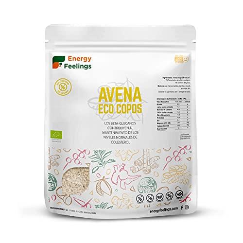 Energy Feelings Avena Ecológica Premium sin Gluten en Copos, XXL - 1 paquete de 1000 gr