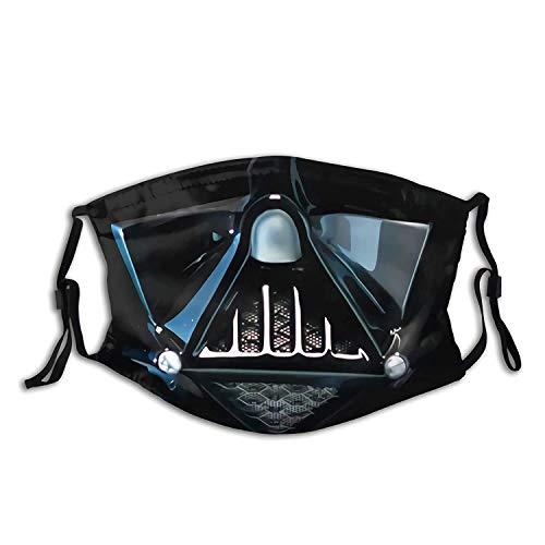 Masque de Dark Vador en coton coupe-vent réutilisable respirant pour homme et femme avec filtre.