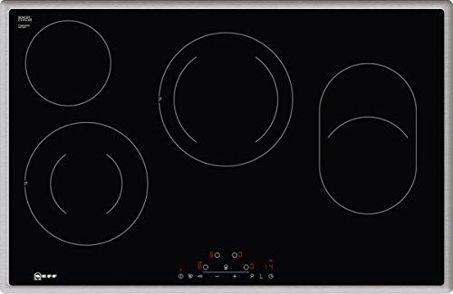 NEFF T18BD36N0 Elektrokochfeld N70 / 60 cm / Autarkes Kochfeld / Touch Control / Bräterzone / Edelstahlrahmen