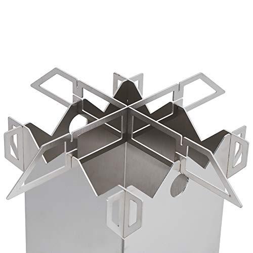 Estufa de leña para acampar, estufa de leña portátil ligera y segura que ahorra energía, extraíble para acampar
