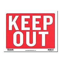 サインプレート Sサイズ 立入禁止【KEEP OUT】Sign Plate 看板 ガレージ インテリア アメリカン雑貨
