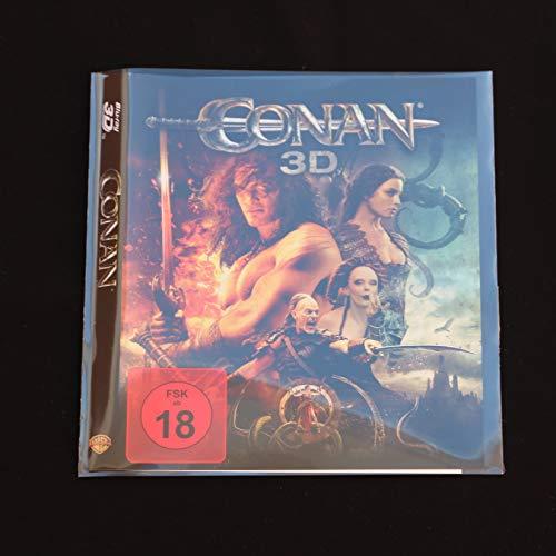 50 St. Blu-ray platzsparende unzerbrechliche Schutzhüllen aus Folie 145 x 153 mm Ersatz für die Box