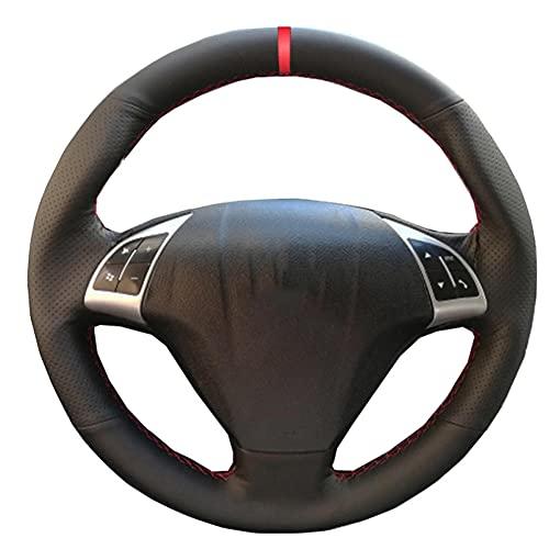 XIEFR Cubierta de Volante de Coche para Coser a Mano, para Fiat Punto Bravo Linea 2007-2020 Qubo Doblo 2008-2015 Combo 12-18 Grande Punto 05-20