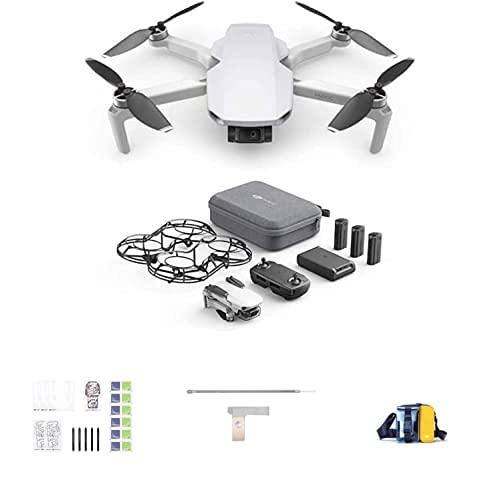 DJI Mavic Mini Combo - Dron Ultraligero y Portátil + Kit Creativo DIY + Soporte de Hélice para Mavic Mini, Beige + Bolsa de Transporte para Mavic Mini y Accesorios, Color Azul/Amarillo