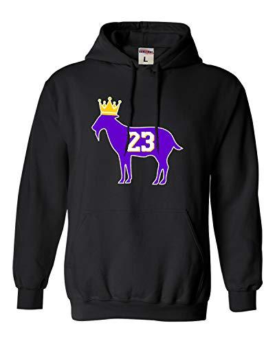 XX-Large Black Adult Goat James G.O.A.T. King Sweatshirt Hoodie