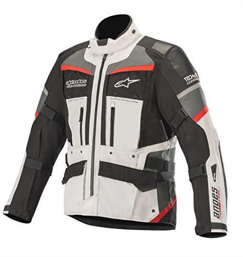 Alpinestars Motorradjacken Andes Pro Drystar Jacket Tech-air Compatible Light Gray Black Dark Gray Red, Grau/Schwarz/Rot, XL