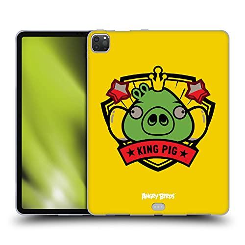 Head Hülle Designs Offiziell Zugelassen Angry Birds King Pig Darsteller Badge Soft Gel Handyhülle Hülle Huelle kompatibel mit Apple iPad Pro 12.9 (2020/2021)