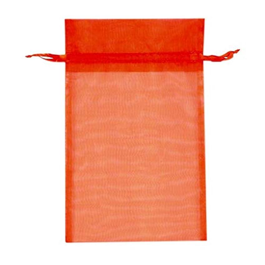 妻割り当てます農夫オーガンジーバッグ 平袋タイプ L オレンジ (OR) 10枚/62-1006-69
