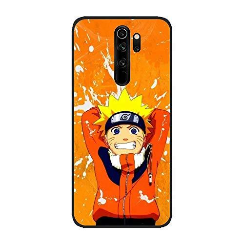 Hiiyorr Matte Black Coque Case Ultra-Thin TPU Anti-Slip Rubber Cover for XIAOMI Redmi Note 8 Pro-Naruto-Sharingan 1