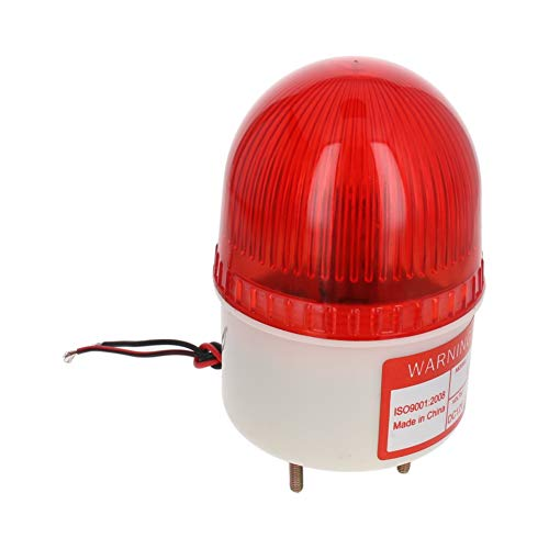 Othmro Warning Light Bulb Industrial Signal Tower Lamp Flashing No Sound 24V 3W Red LTE-5051 1pcs