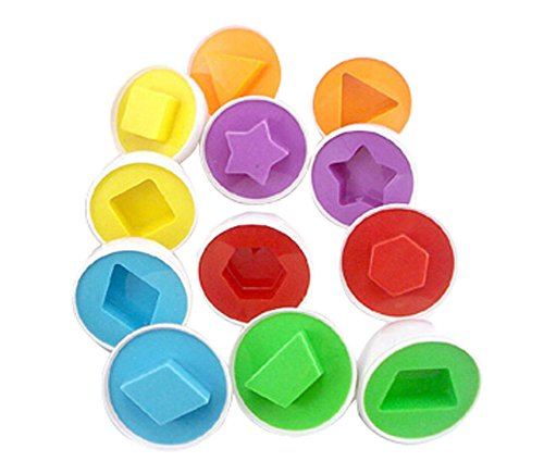 Ensemble de 12 belle forme Matching oeufs Jouets Bébé jouets pour enfants Fancy