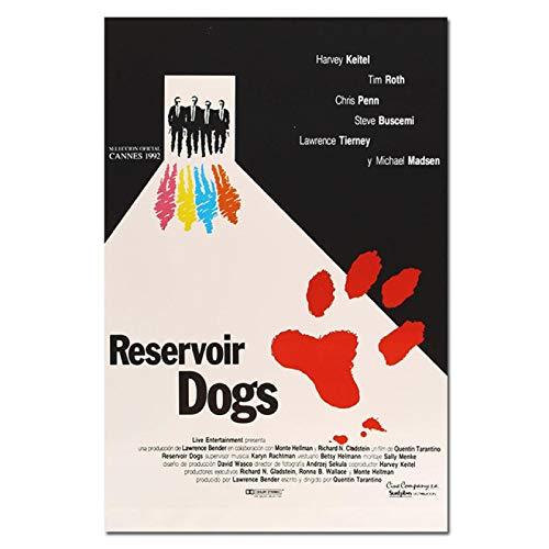 Impresión en lienzo Póster Vintage Movie Reservoir Dogs Impresiones de arte clásico Decoración de pared para el hogar Imágenes de seda Quentin Tarantino Posters de películas 60x90cm (24x36inch)