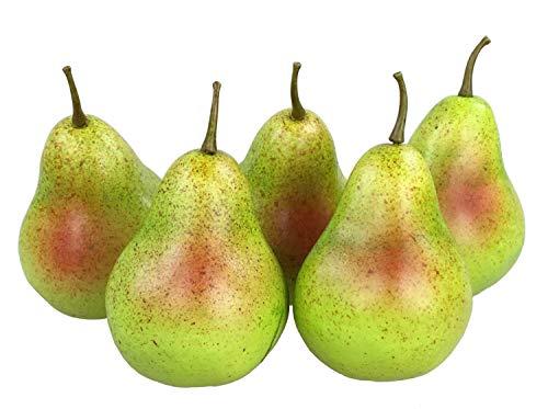 GMMH Deko künstliches Obst Dekoration (Birnen bunt, 5 Stück)