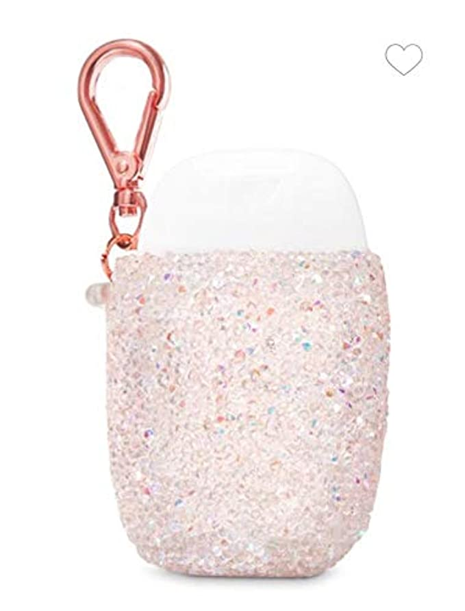 ショート世界の窓素子【Bath&Body Works/バス&ボディワークス】 抗菌ハンドジェルホルダー ピンクジェム Pocketbac Holder Pink Gem [並行輸入品]