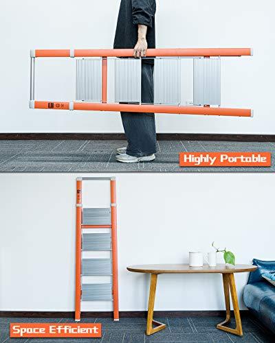 MECHREVO 4-Step Folding Ladder, 36-1/4