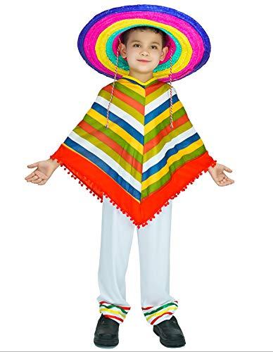 PARTY FIESTA Disfraz Poncho Mexicano (10-12)