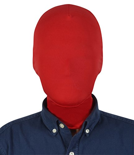 Sheface Spandex Costume Full Cover Hood Masks for Adults and Kids (Adults, Red)