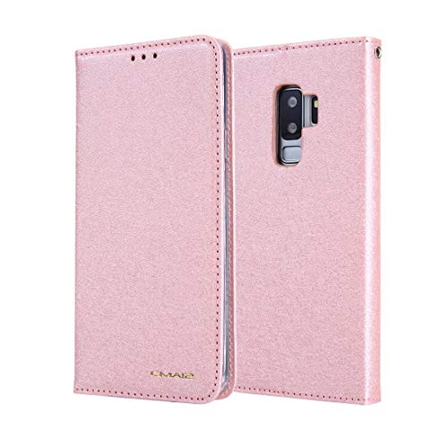 JIAHENG Phone Case Silk Pattern Wallet Phone Case for Samsung Galaxy S9 || Leather Card Case Wallet with Handy Stand Feature Flip Phone Case [PU Shockproof Interior Case] PU Leather Cover Shell