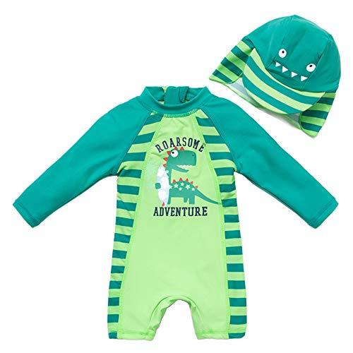 upandfast Maillot de bain pour bébé garçon avec chapeau de soleil UPF 50 + fermeture éclair une...