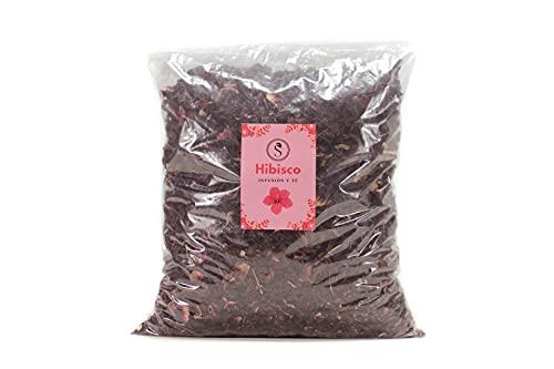 Flor de Jamaica, Hibisco organico ecológico 100% natural para infusion fria adelgazante de te detox, ideal como quemagrasas ayuda a adelgazar rapido (1000g)