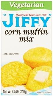 Jiffy Vegetarian Corn Muffin Mix, 8.5 oz (Pack of 6)