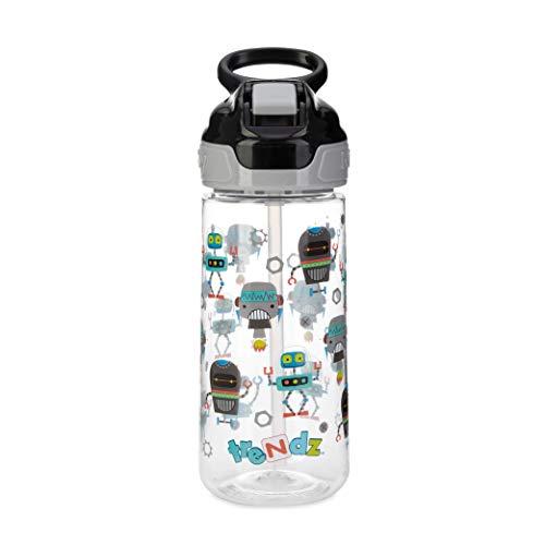 Nuby Trendz Grande Trinkflasche, 540 ml, Roboter