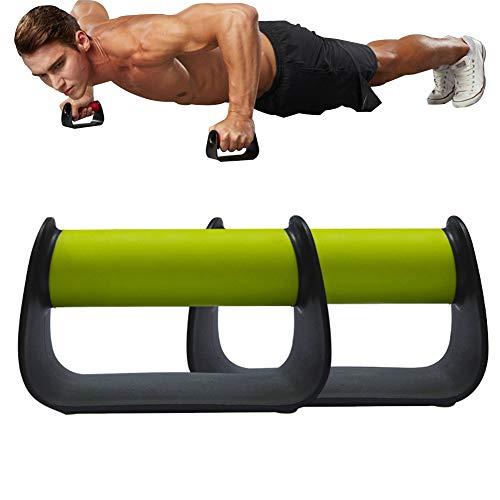 Cnwang Stands Pushup, avec Poignée en Mousse pour Presse Pectorale, Exercice De Fitness à Domicile, Entraînement en Force - 1 Paire,Vert