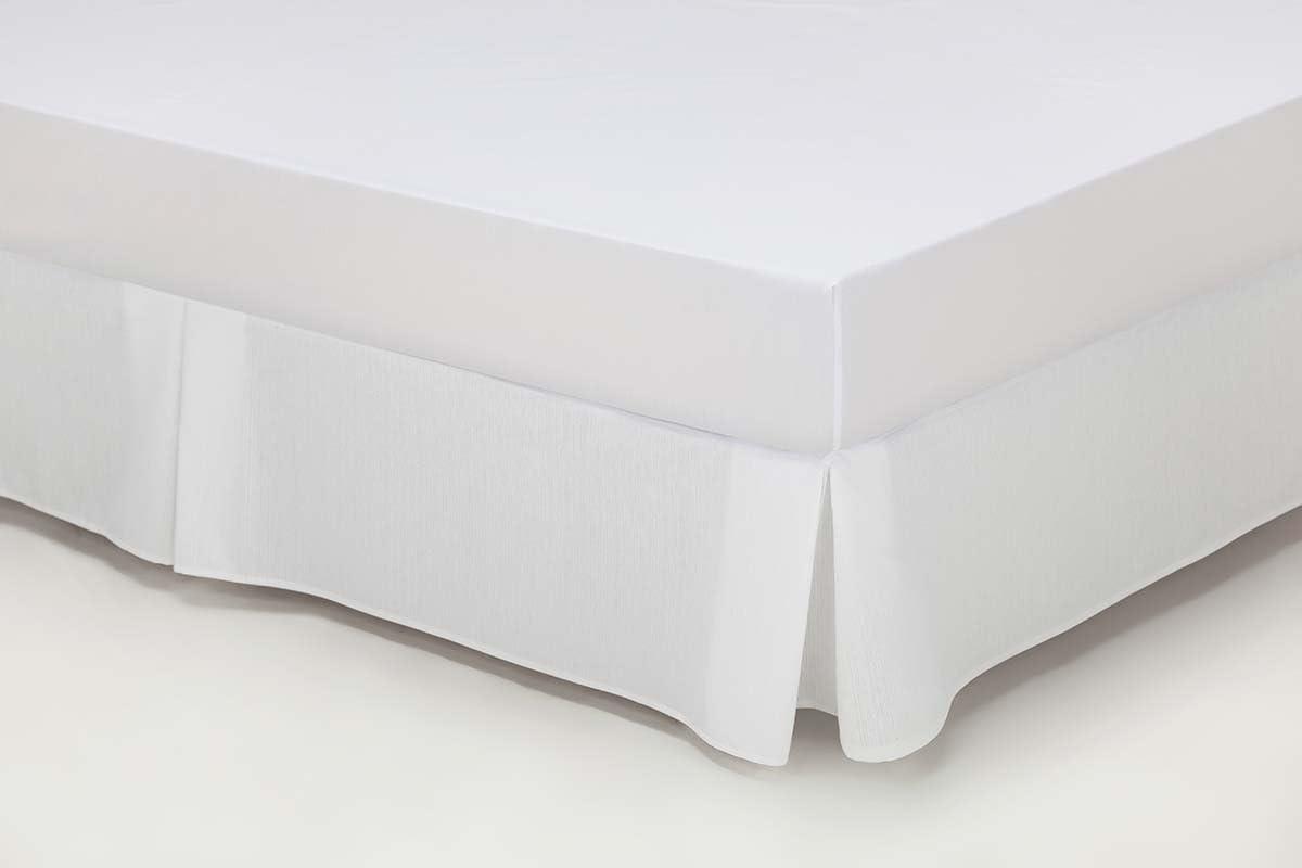 ESTELA - Cubrecanapé Hilo Tintado RÚSTICO Color Blanco óptico - Cama de 160 - Alto 35 cm - Tipo Colcha - 50% algodón / 50% poliéster - Medidas: 160 x ...