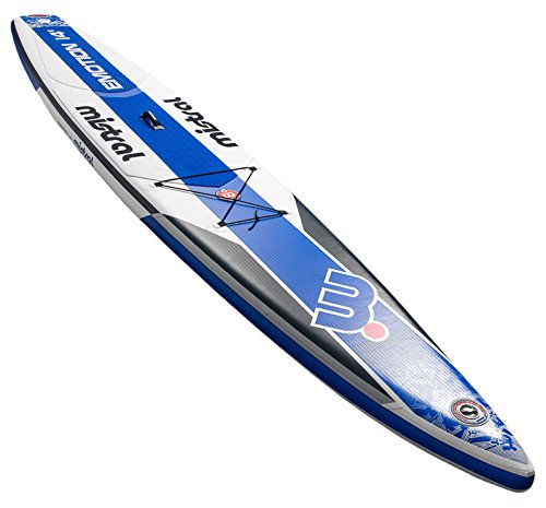 MISTRAL Lavagne Race SUP Gonfiabile Stand Up Paddle Emotion 14'0Touring, Bianco, M