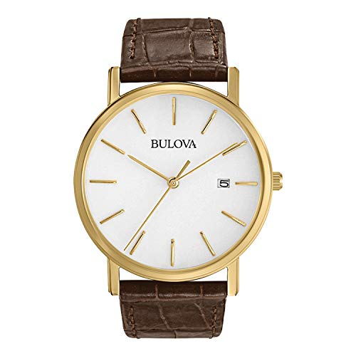 Bulova Men's 97B100 Classic Gold-Tone Stainless Steel Watch...