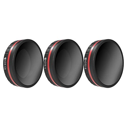 Freewell Landscape Gradient ND Camera Lens Filters – 4K Series – 3Pack ND8-GR, ND16-4,ND32-8 Compatible with DJI Osmo Action Camera