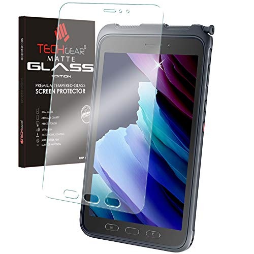 TECHGEAR Anti Glare Galaxy Tab Active 3 8' MATTE Glass Edition, Tempered Glass Screen Protector [9H Toughness] [Scratch-Resistant] Designed For Samsung Galaxy Tab Active 3 SM-T570 / T575 / T577