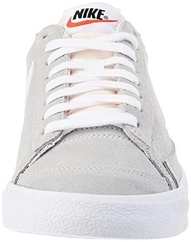 Nike Blazer Low '77, Zapatillas de bsquetbol Hombre, Lt Smoke Grey White White, 41 EU