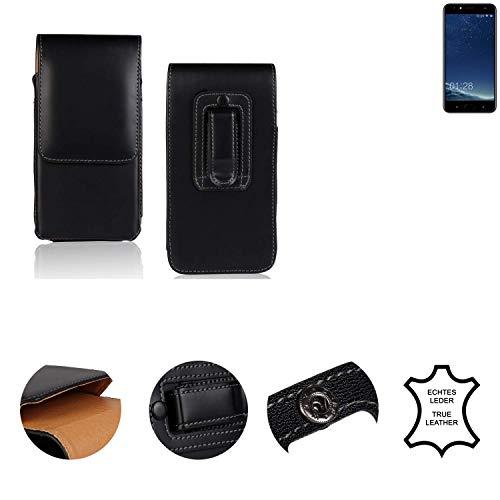K-S-Trade® Holster Gürtel Tasche Für M-Horse Power 2 Handy Hülle Leder Schwarz, 1x