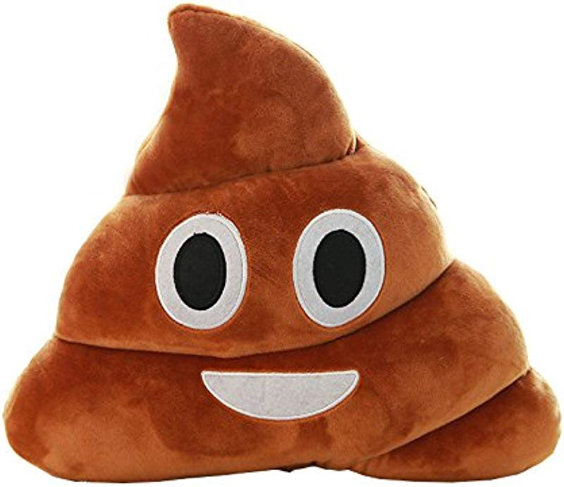 FeiFei66 Browm Emoji Smiely Poop Pillow Plush Cushions Home Decor Kids Gift Stuffed Poop Doll Keychain