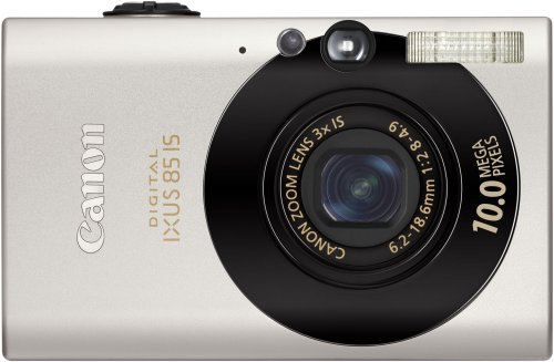 Canon Digital IXUS 85 IS Compact Camera - Black (10 MP, 3x Optical Zoom) 2.5 inch High Resolution PureColor LCD II