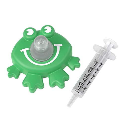 Ezy Dose Kids Medi-Pals Baby and Kids Liquid Medicine Dispenser | Infant Oral Syringe - Froggy
