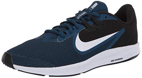 Nike Wmns Downshifter 9, Zapatilla de Correr para Mujer, Valerian Blue White Black Vivid Purple, 38.5 EU