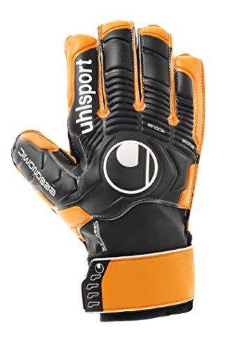 UHL Torwarthandschuhe Ergonomic Soft Advanced, Schwarz/Orange, 5.0