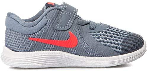 Nike Revolution 4 (TDV), Zapatillas de Estar por casa Unisex niños, Multicolor (Ashen Slate/Flash Crimson/Diffused Blue 400), 17 EU