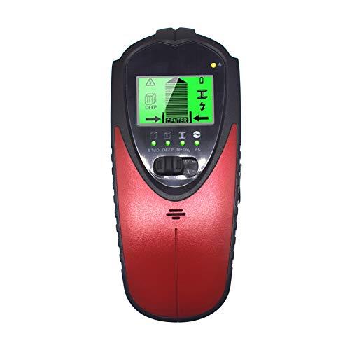 4 en 1 Detector de metales digital KKmoon Detector de pared portátil Buscador de postes Escáner de pared multifuncional Detector central con pantalla LCD para vigas de madera Cables de CA