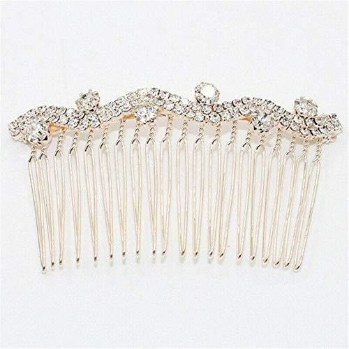 Pasador de pelo de estilo nuevo, color dorado, plateado, para mujeres, bodas, festivales, accesorios de peinado