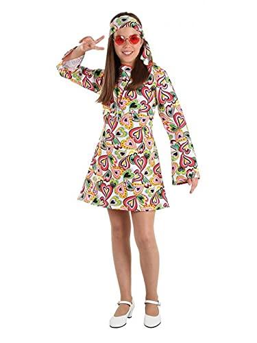 DISBACANAL Disfraz Hippie años 70 niña - 12 a�
