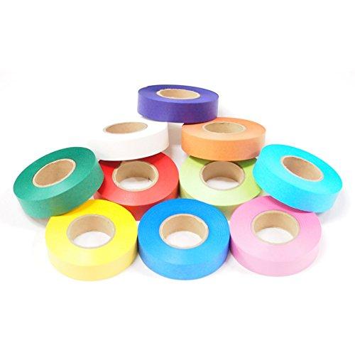 『カラーテープ 単色10P あか』のトップ画像