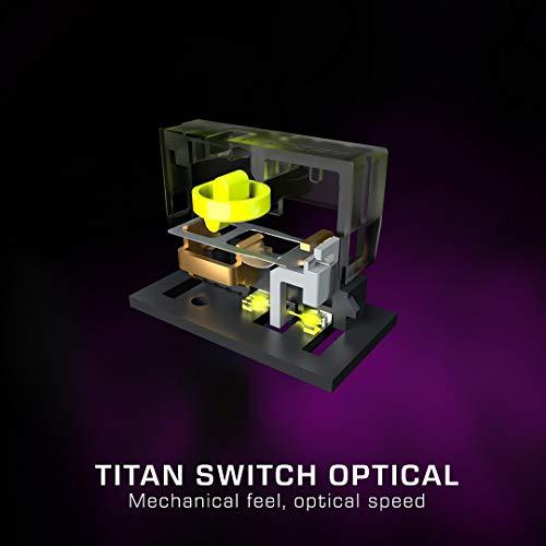 Roccat Burst Pro – Extrem leichte Optical Pro Gaming Maus (hohe Präzision, Optischer Owl-Eye Sensor (100 bis 16.000 Dpi), RGB AIMO LED Beleuchtung, 68g leicht, Designt in Deutschland), schwarz - 6