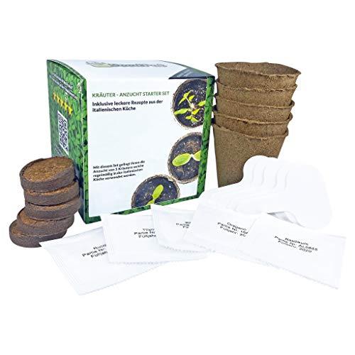 SeedPal - Kräuter Anzuchtset - das einfache Starter Kit für Hobbygärtner inkl. leckerer Rezeptideen - 5 beliebte Kräutersorten - Pflanzen & züchten Sie Ihren eigenen kleinen Kräutergarten