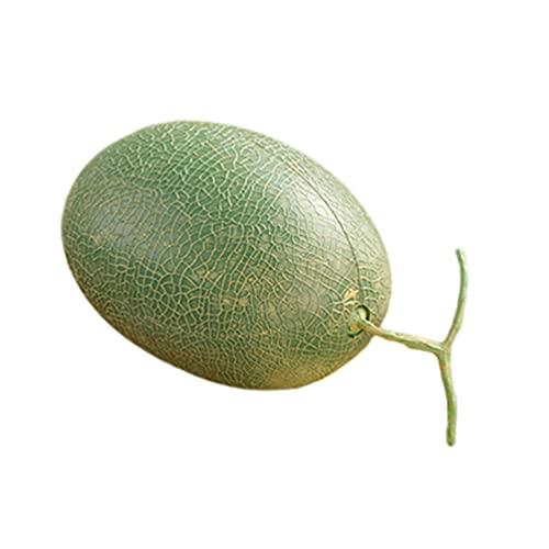 1 Pz/Set Melone Artificiale,Decorazione Di Frutta Realistica,Frutta Finta Da Cucina Per La Decorazione Domestica,Decorazione Natalizia Per Feste(Senza Tagliere)