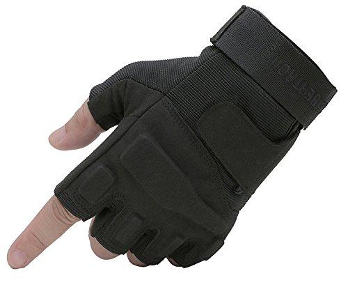 Seibertron S.O.L.A.G 1/2 Finger/Fingerless/Half Finger Multi-Function Sports Gloves Black M