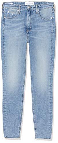 Calvin Klein Jeans Damen High Rise Super Ankle Skinny Jeans, Blau (DA069 LIGHT BLUE DSTR CUT HEM 1AA), 32NI