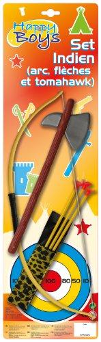 Caritan - 59246 - Déguisement - Set Archerie Indien - Arc / Flèches / Tomahawk